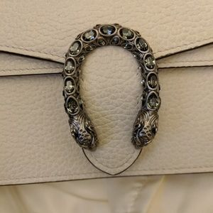 Gucci Bags - Gucci Dionysus super mini white crossbody bag